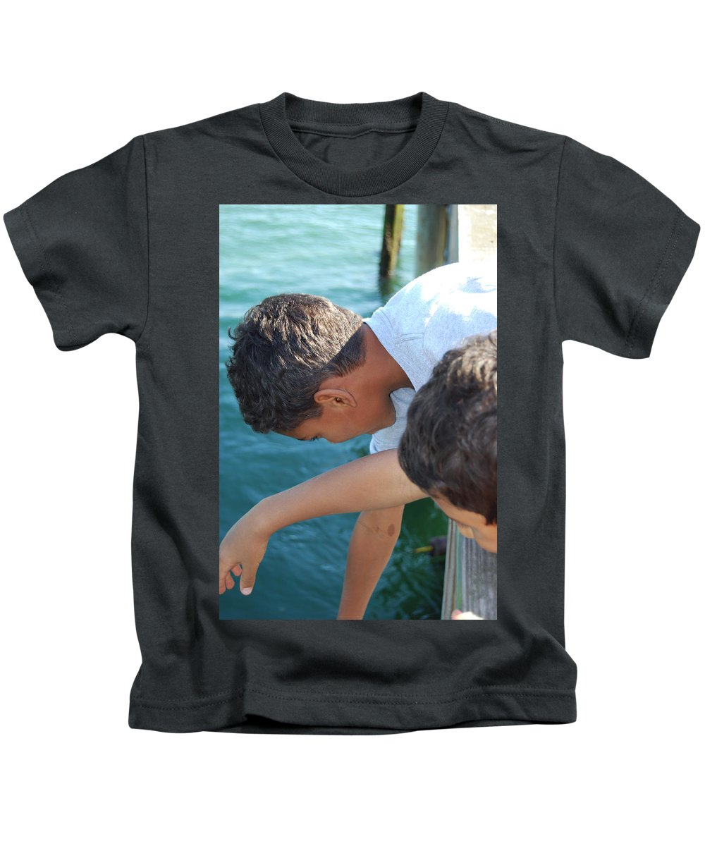 Boys Kids T-Shirt featuring the photograph Looking For Treasures Ltp by Jim Brage