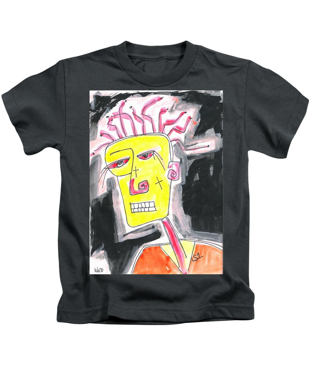 Visionary Art Kids T-Shirt featuring the painting Lost Soul 1 by Kathy Augustine