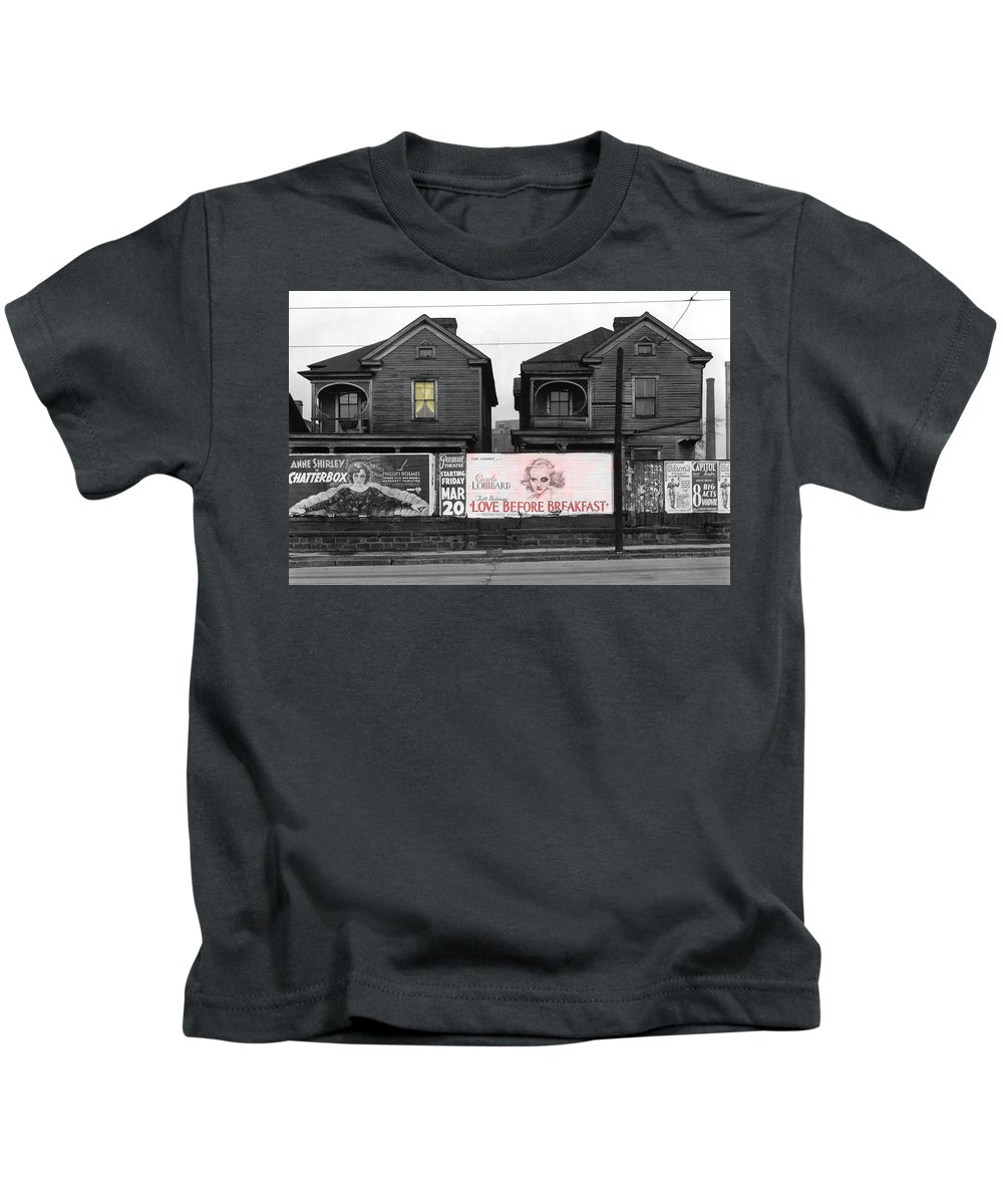Vintage Movie Posters Kids T-Shirt featuring the photograph Love Before Breakfast by Andrew Fare
