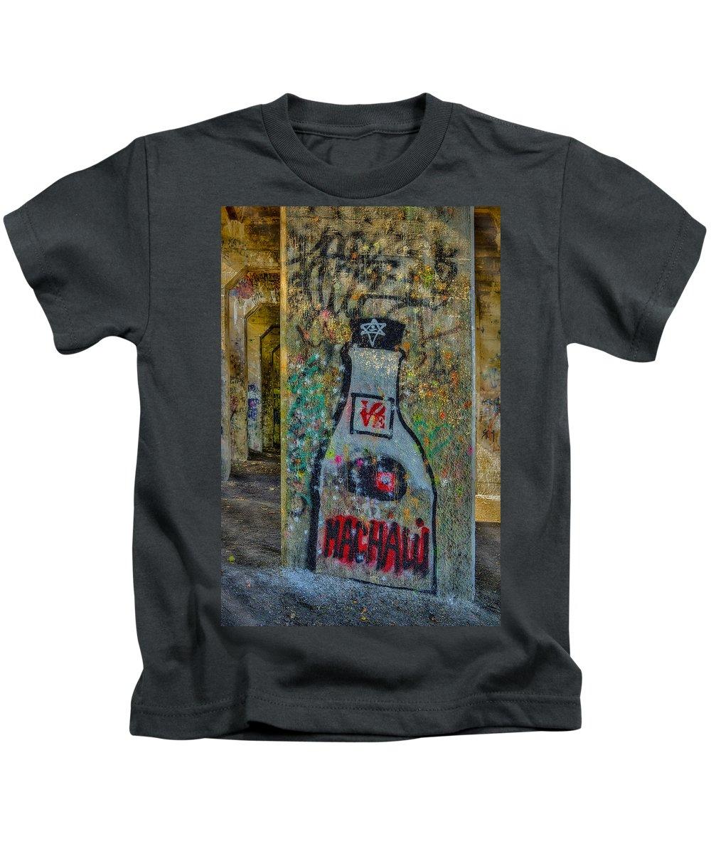 Graffiti Kids T-Shirt featuring the photograph Love Graffiti by Susan Candelario