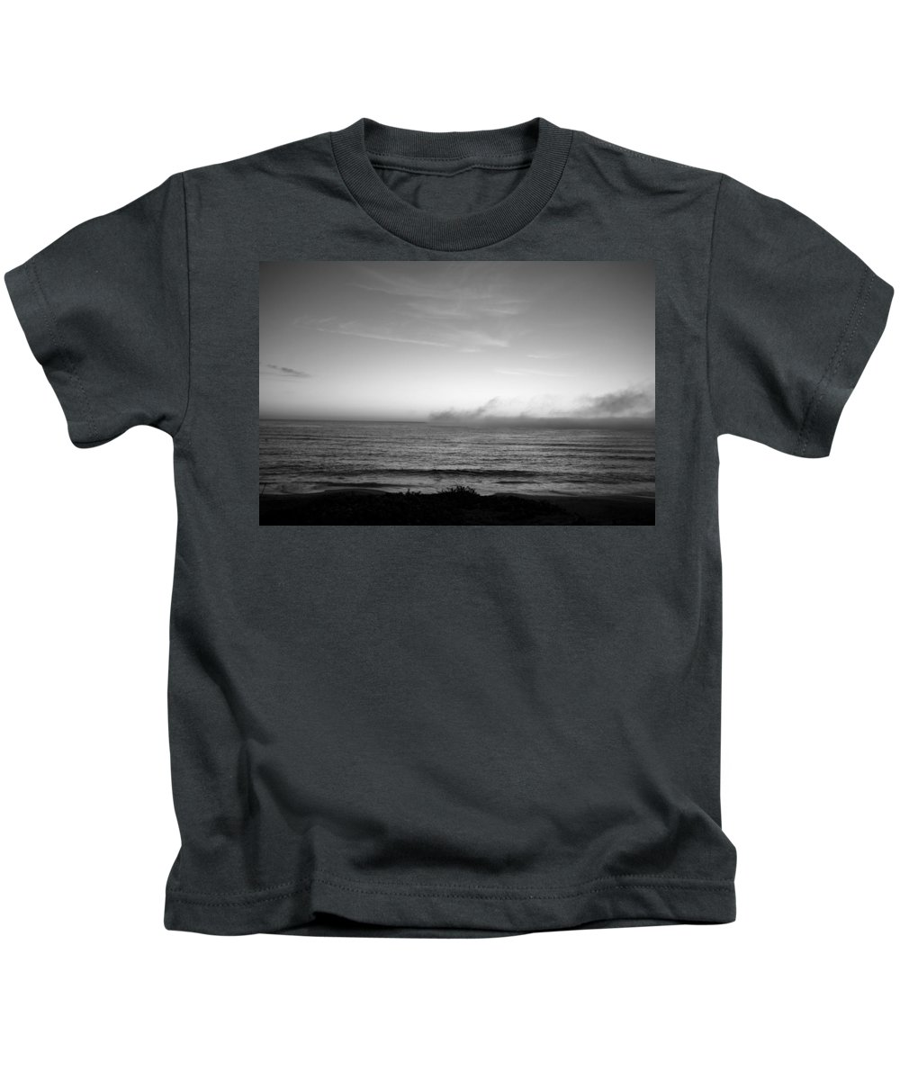 Marina Dunes Beach Kids T-Shirt featuring the photograph Marina - Afterlight by Kathleen Grace
