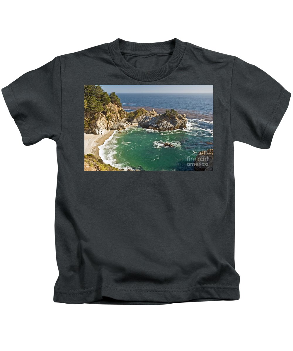 Rocky Kids T-Shirt featuring the photograph Mcway Falls by Jim Chamberlain