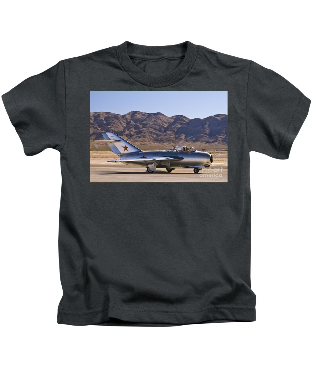 Mig-15 Kids T-Shirt featuring the photograph Mig - 15 by Tim Mulina