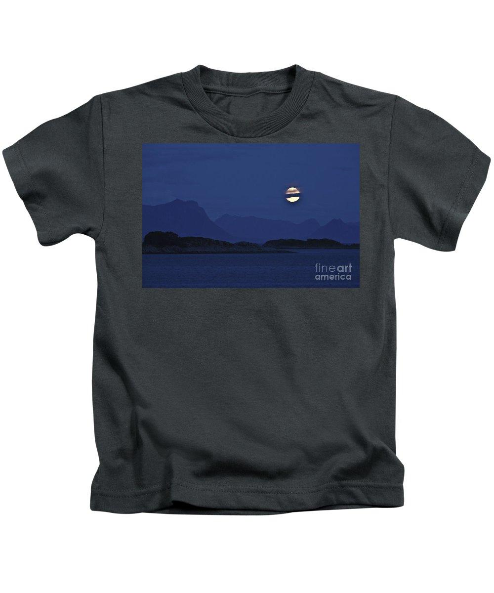 Moon Kids T-Shirt featuring the photograph Moonlight Series - 4 by Heiko Koehrer-Wagner