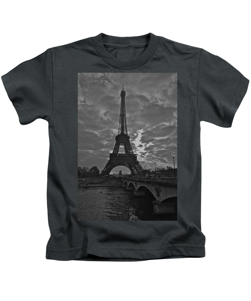 Eiffel Tower Kids T-Shirt featuring the photograph Morning Light by Eric Tressler