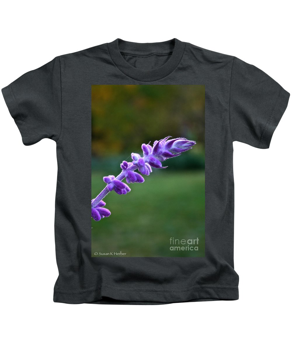 Flower Kids T-Shirt featuring the photograph Morning Sage by Susan Herber