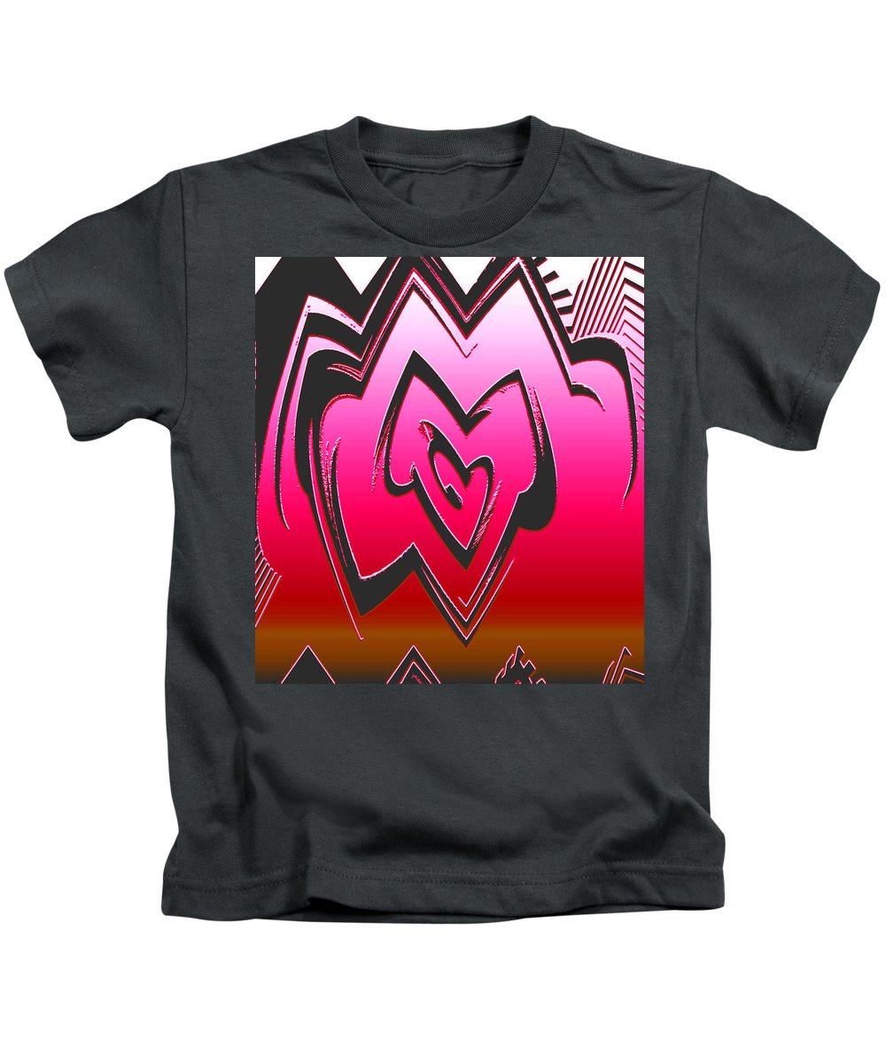 Moveonart! Global Gathering. Branch -- Digital Abstract Art By Artist Jacob Kane Kanduch -- Omnetra Kids T-Shirt featuring the digital art Moveonart Abstractheart by Jacob Kanduch