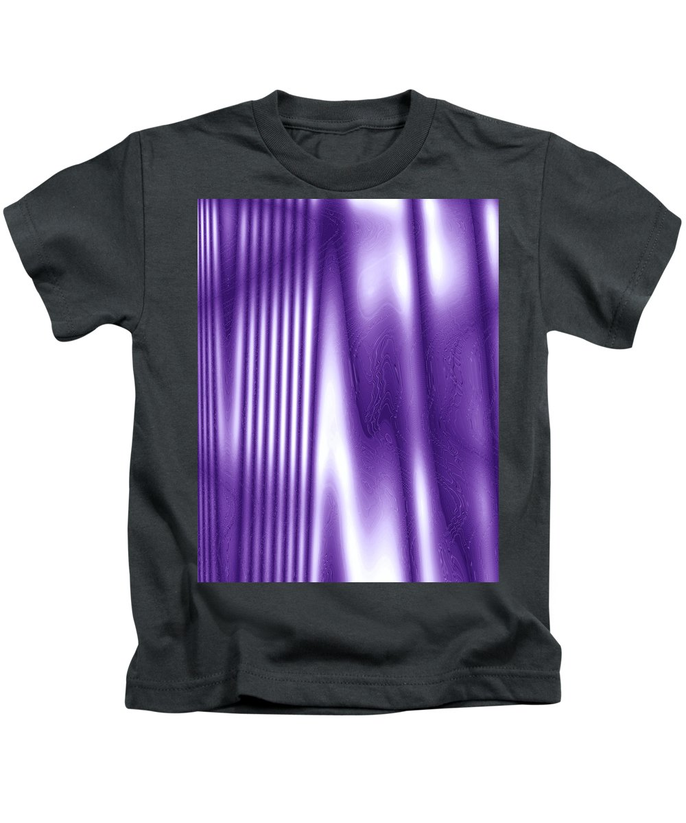 Moveonart! Global Gathering. Branch withhelpofpurple Digital Abstract Art By Artist Jacob Kane Kanduch -- Omnetra Kids T-Shirt featuring the digital art Moveonart Withhelpofpurple by Jacob Kanduch