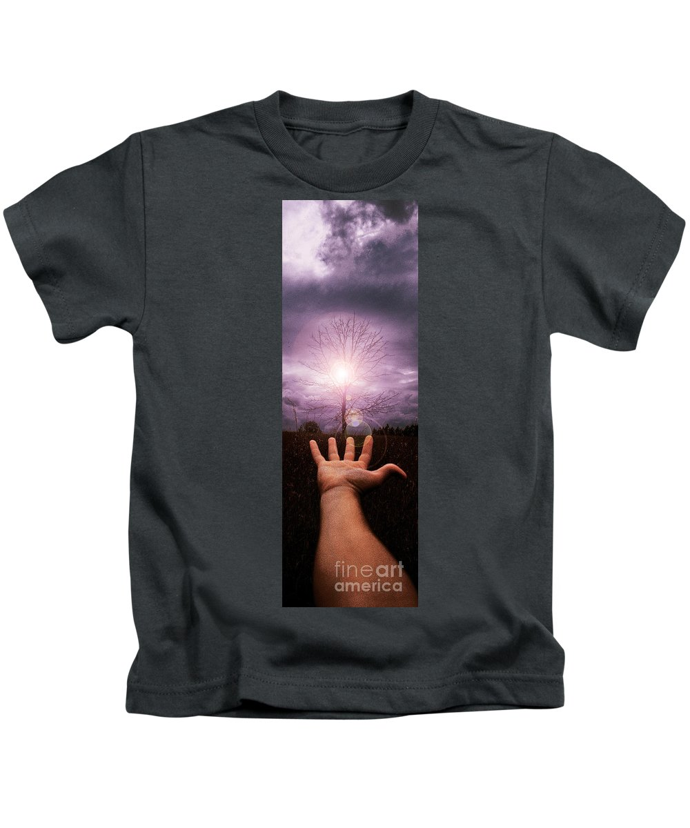 Arm Kids T-Shirt featuring the photograph My Arm And Hand 40 Years Ago by Mike Nellums