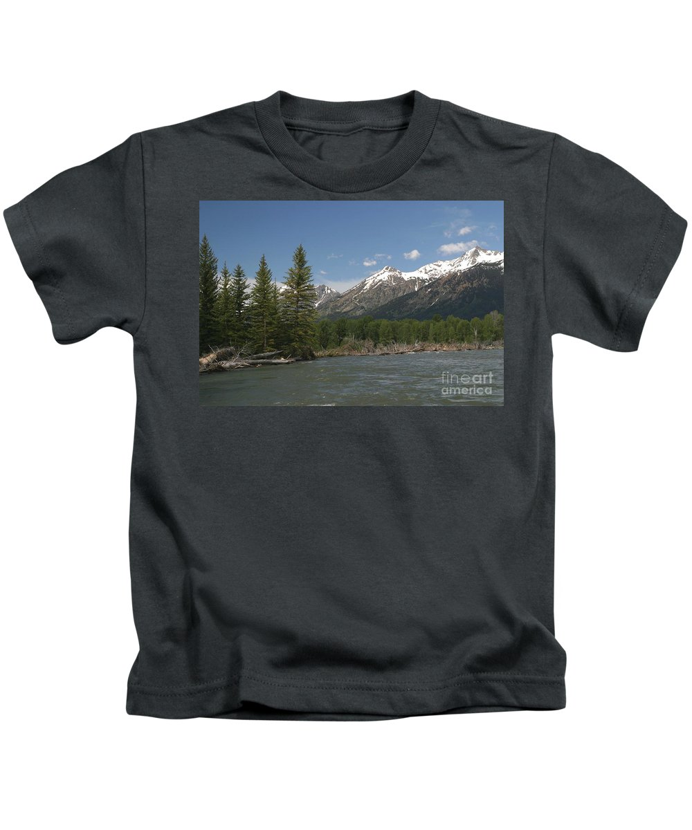 Grand Tetons Kids T-Shirt featuring the photograph My Favorite Of The Grand Tetons by Living Color Photography Lorraine Lynch