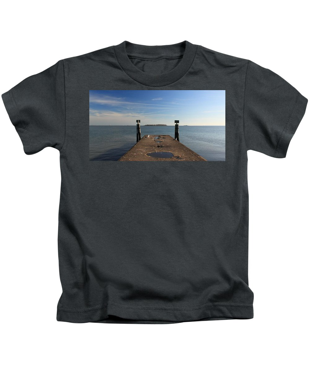 Island Kids T-Shirt featuring the photograph Mysterious Island by Robert McCulloch