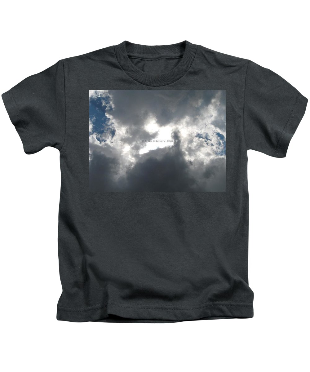 Black & White Shades Kids T-Shirt featuring the photograph Nature's Flash by Sonali Gangane