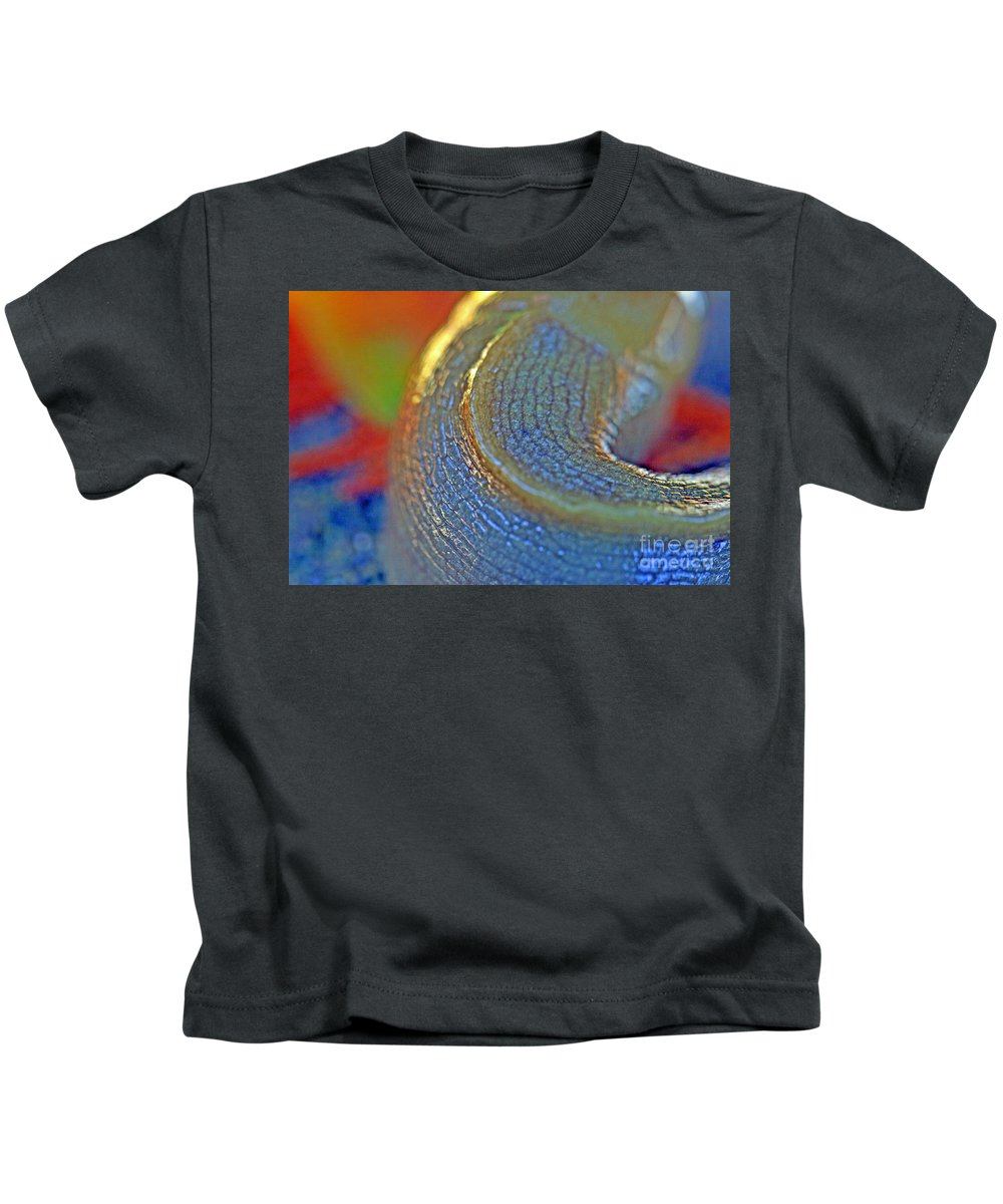 Snail Kids T-Shirt featuring the photograph Nature's Slug Skin by Tap On Photo