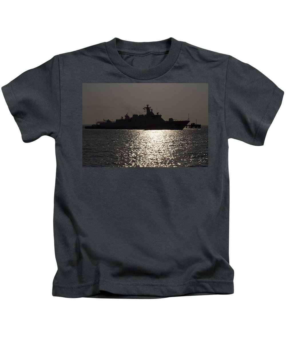 Battleship Kids T-Shirt featuring the photograph Naval Joint Operations V7 by Douglas Barnard