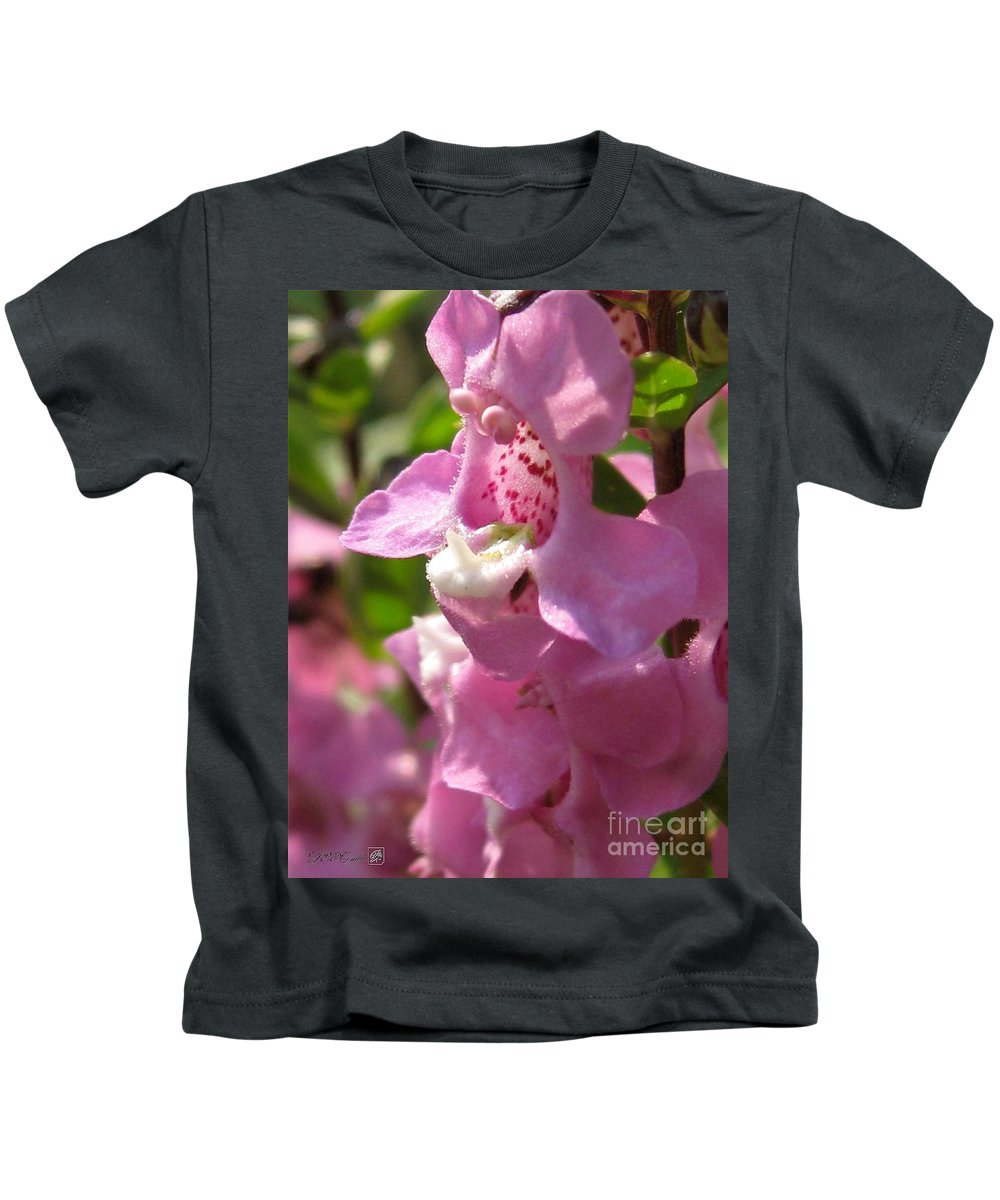 Nemesia Kids T-Shirt featuring the photograph Nemesia Named Poetry Lavender Pink by J McCombie