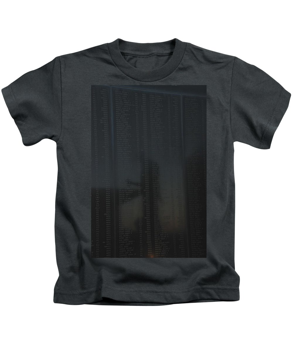 War Kids T-Shirt featuring the photograph New Jersey Korean War Memorial Reflection by Richard Bryce and Family