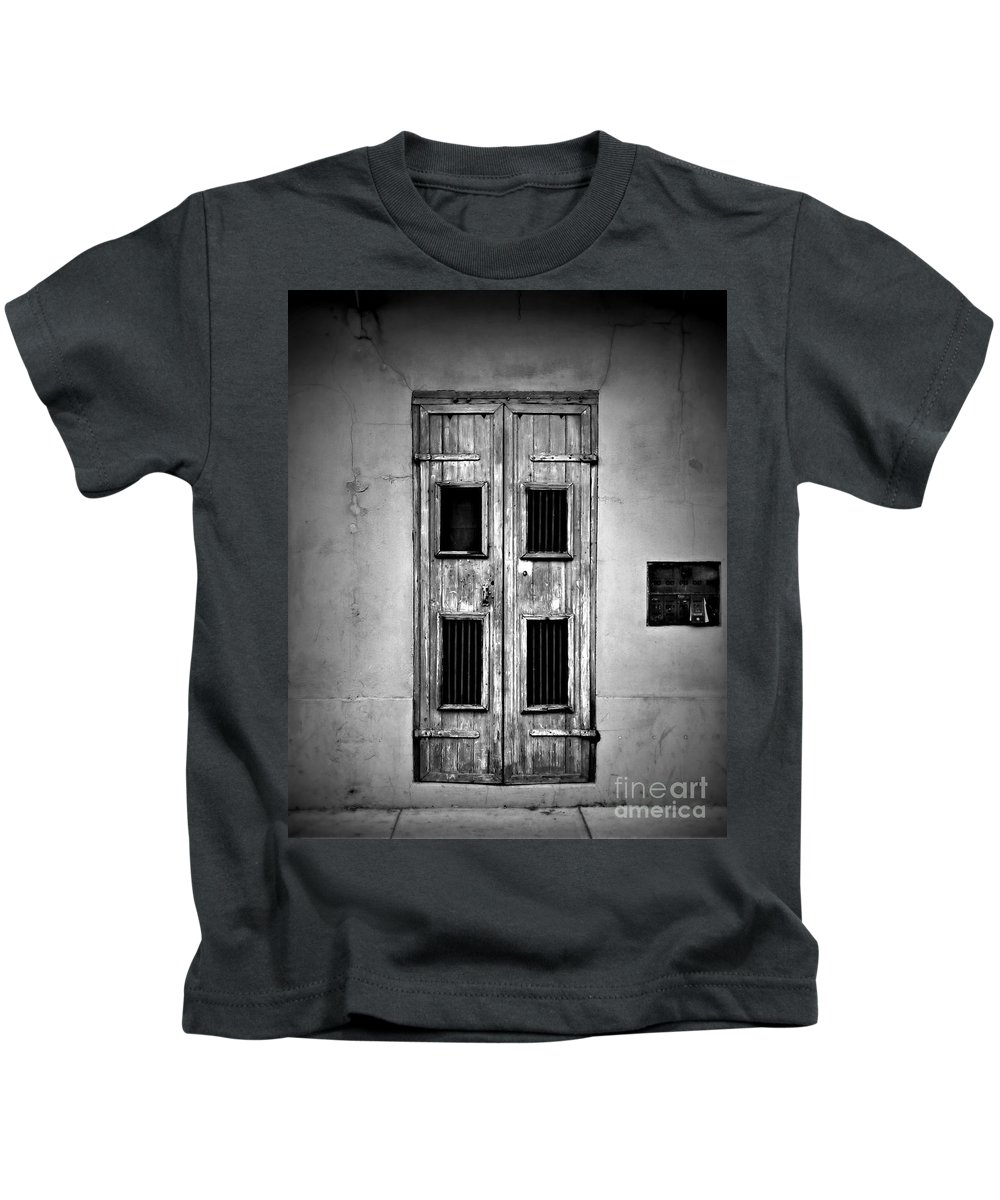 Door Kids T-Shirt featuring the photograph New Orleans Classic Doors by Perry Webster