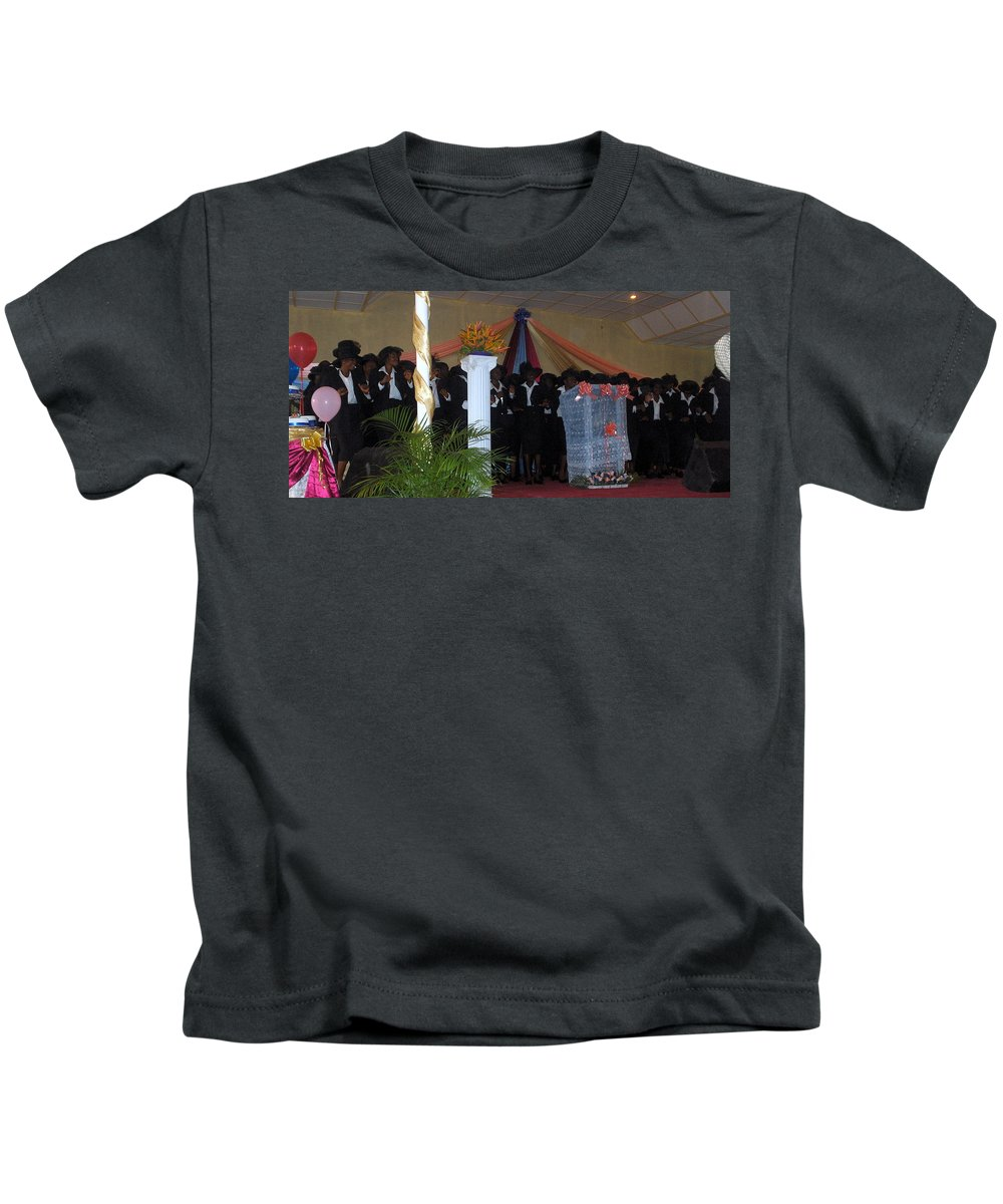 Missions Kids T-Shirt featuring the photograph Nigerian Church Choir by Amy Hosp