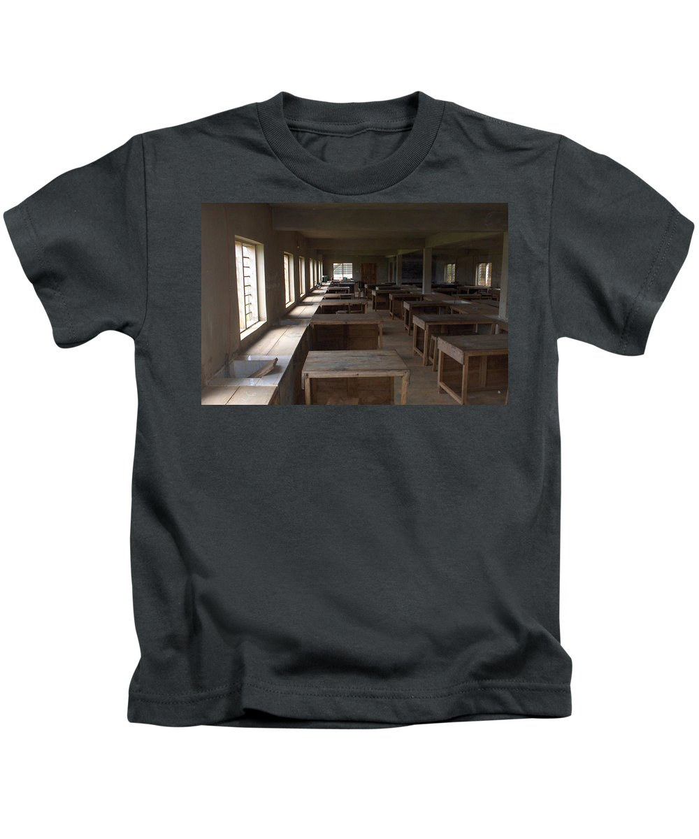 Nigeria Kids T-Shirt featuring the photograph Nigerian Classroom Science Lab by Amy Hosp