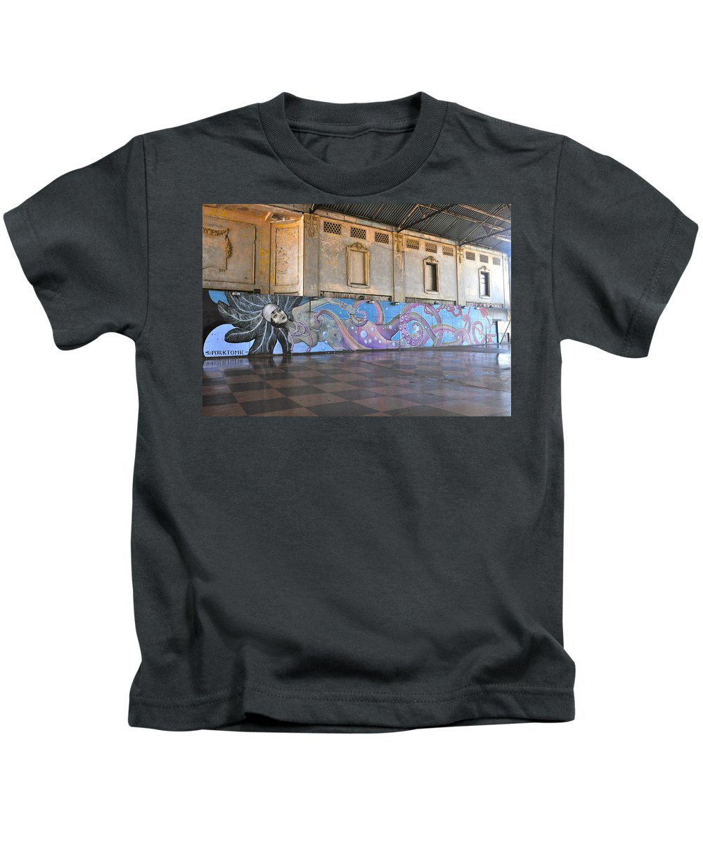 Asbury Park Kids T-Shirt featuring the photograph Octo-mermaid by Catherine Conroy