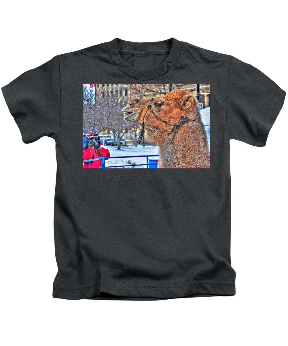 Kids T-Shirt featuring the photograph Ok Ok All Cams On Me by Michael Frank Jr