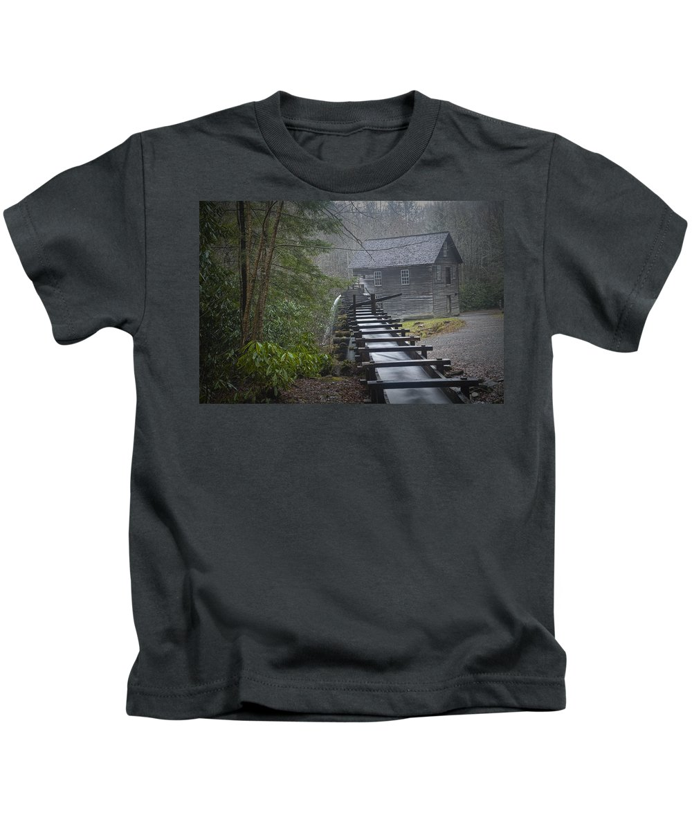 Art Kids T-Shirt featuring the photograph Old Mill In The Smokey Mountains by Randall Nyhof