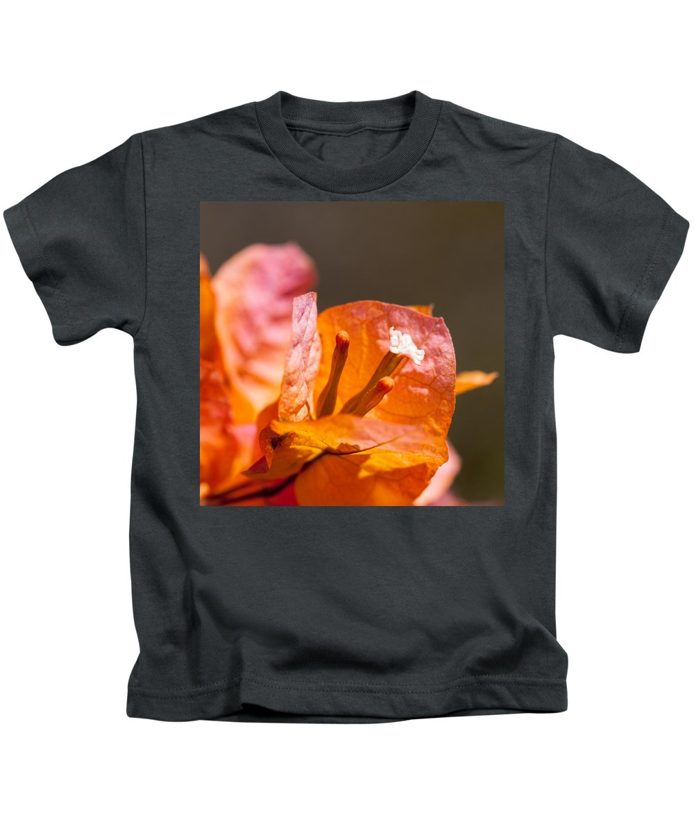 Ralf Kids T-Shirt featuring the photograph orange Bougainvillea by Ralf Kaiser