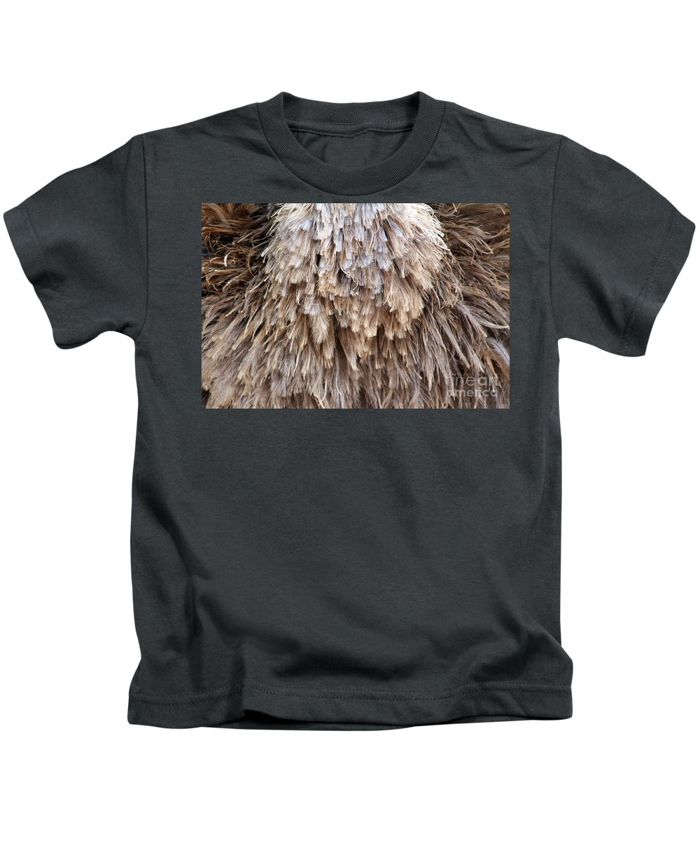 Female Kids T-Shirt featuring the photograph Ostrich Fluff by Alycia Christine