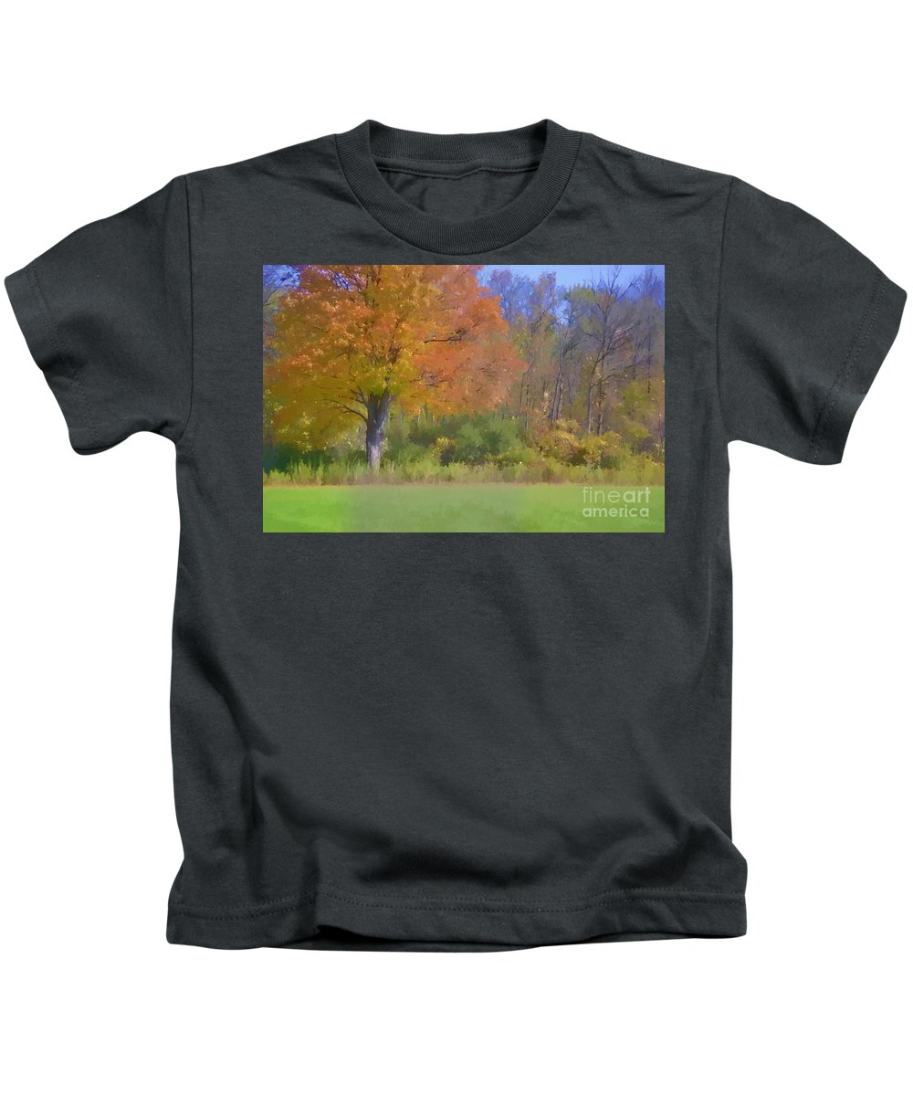 Autumn Kids T-Shirt featuring the photograph Painted Leaves Of Autumn by Traci Cottingham