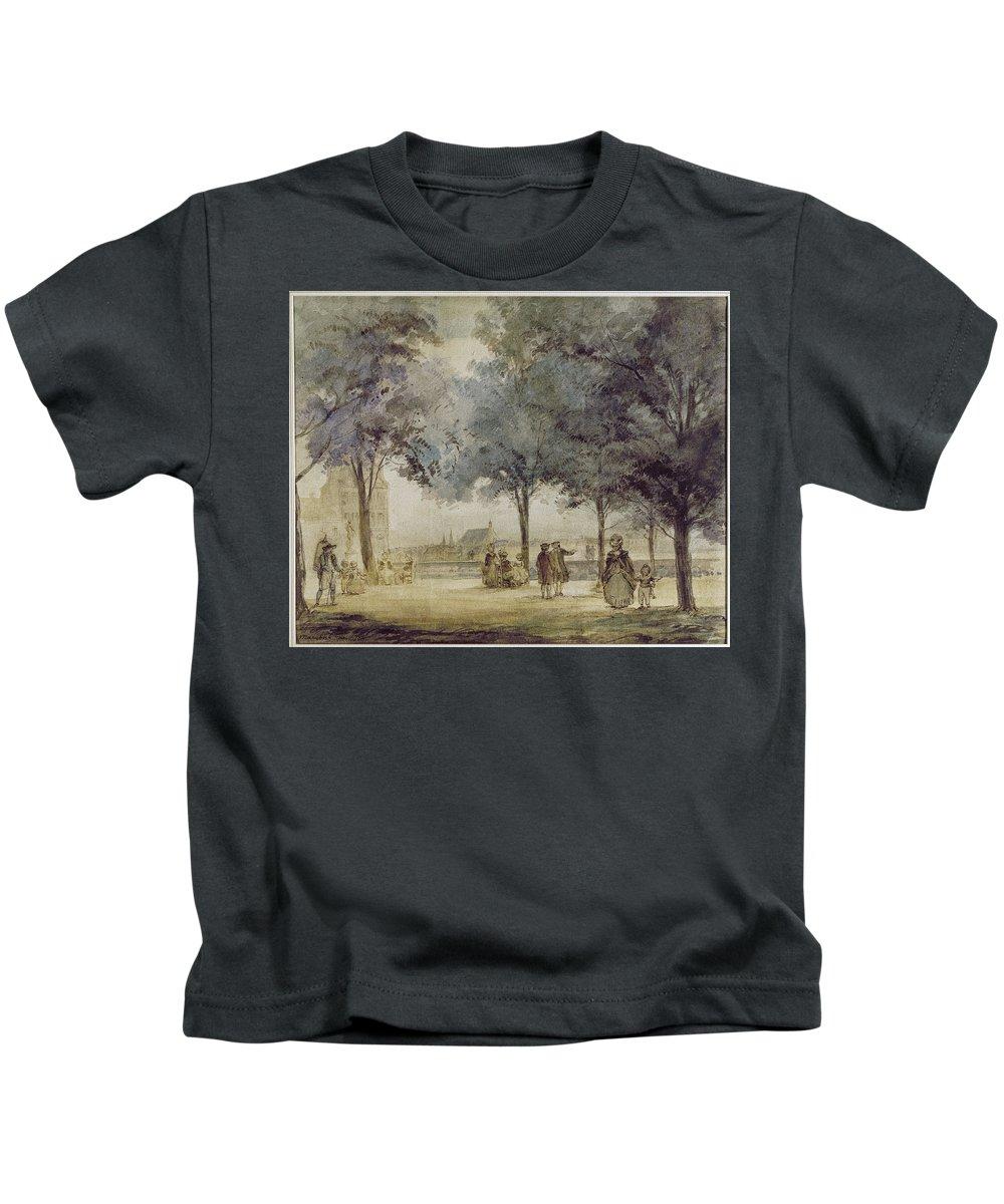 1786 Kids T-Shirt featuring the photograph Paris: Tuilerie Gardens by Granger