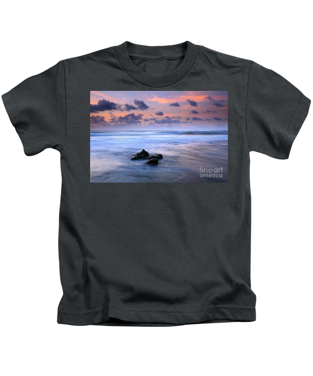 Tunnels Beach Kids T-Shirt featuring the photograph Pastel Tides by Mike Dawson