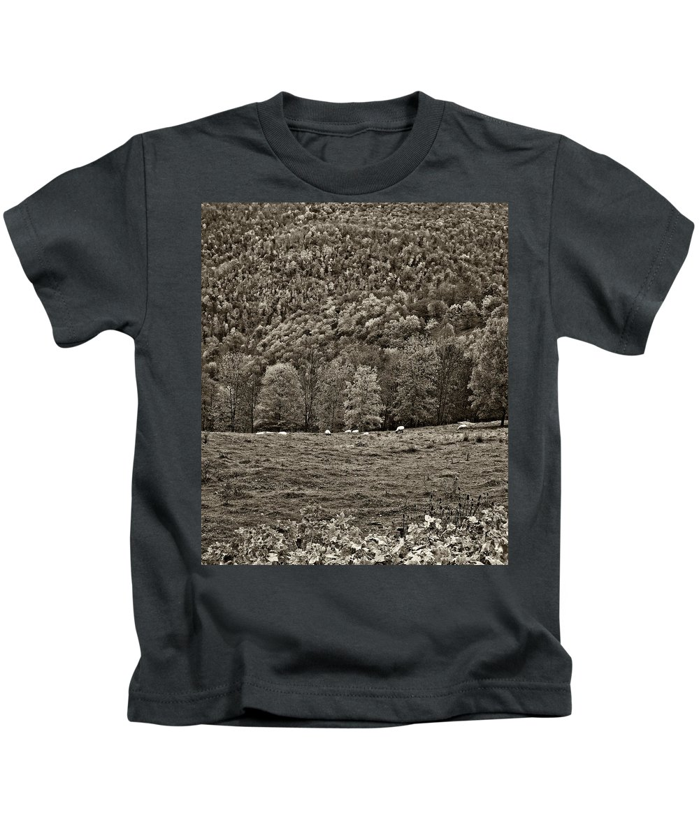 West Virginia Kids T-Shirt featuring the photograph Pastoral Sepia by Steve Harrington