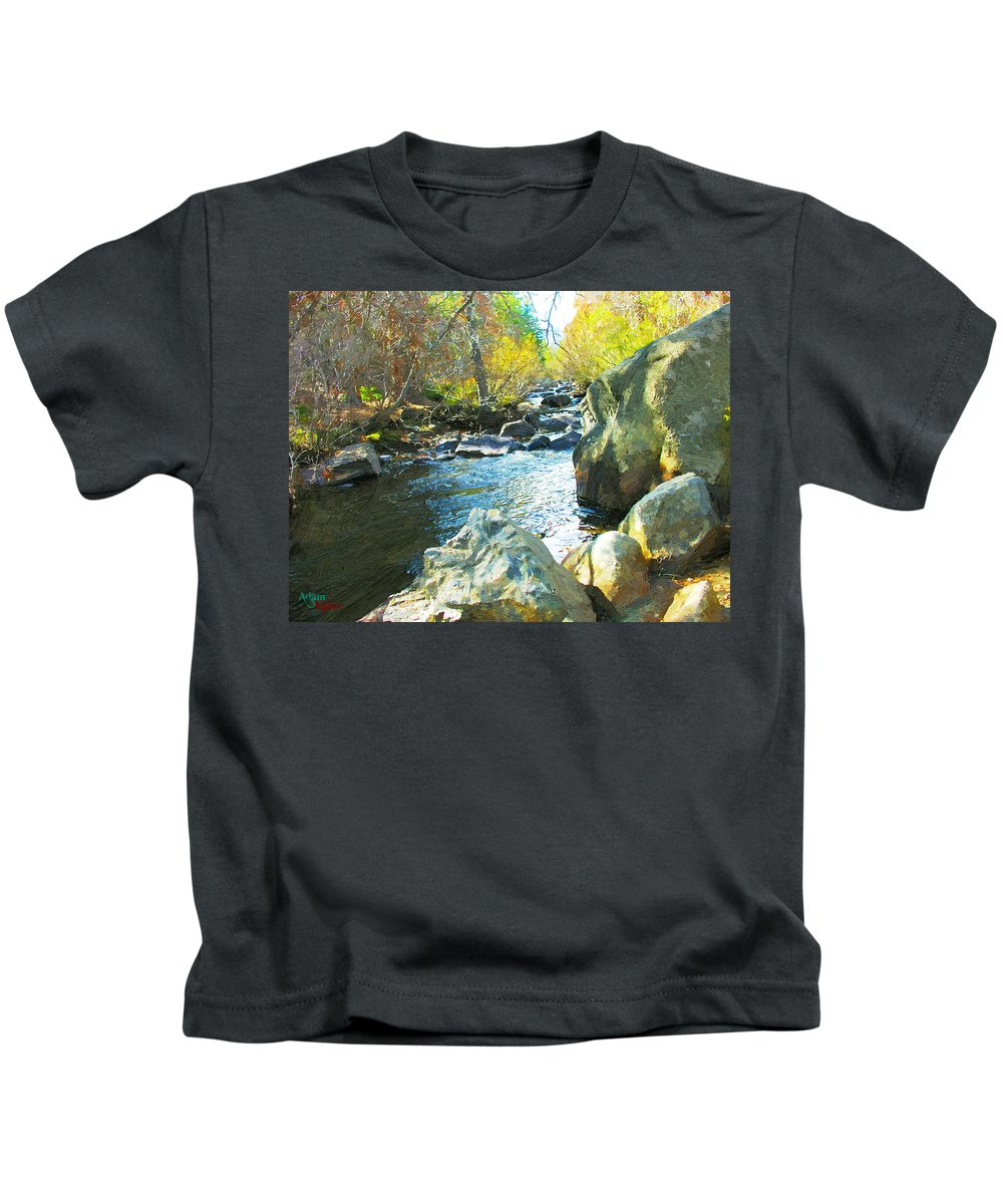 Stream Kids T-Shirt featuring the photograph Peaceful by Adam Vance