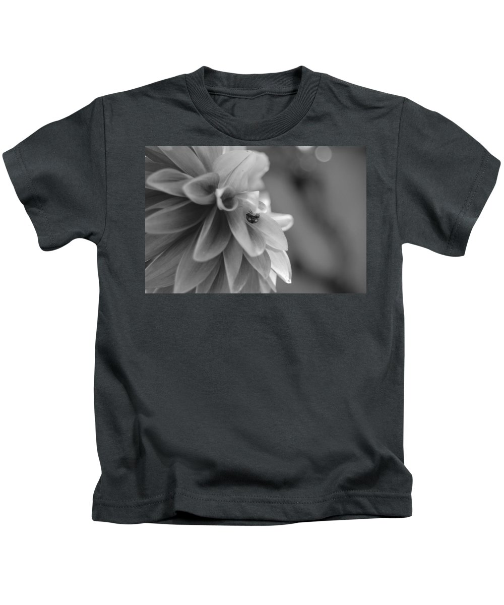 Flower Kids T-Shirt featuring the photograph Peeking Lady Bug 1 by Amy Fose