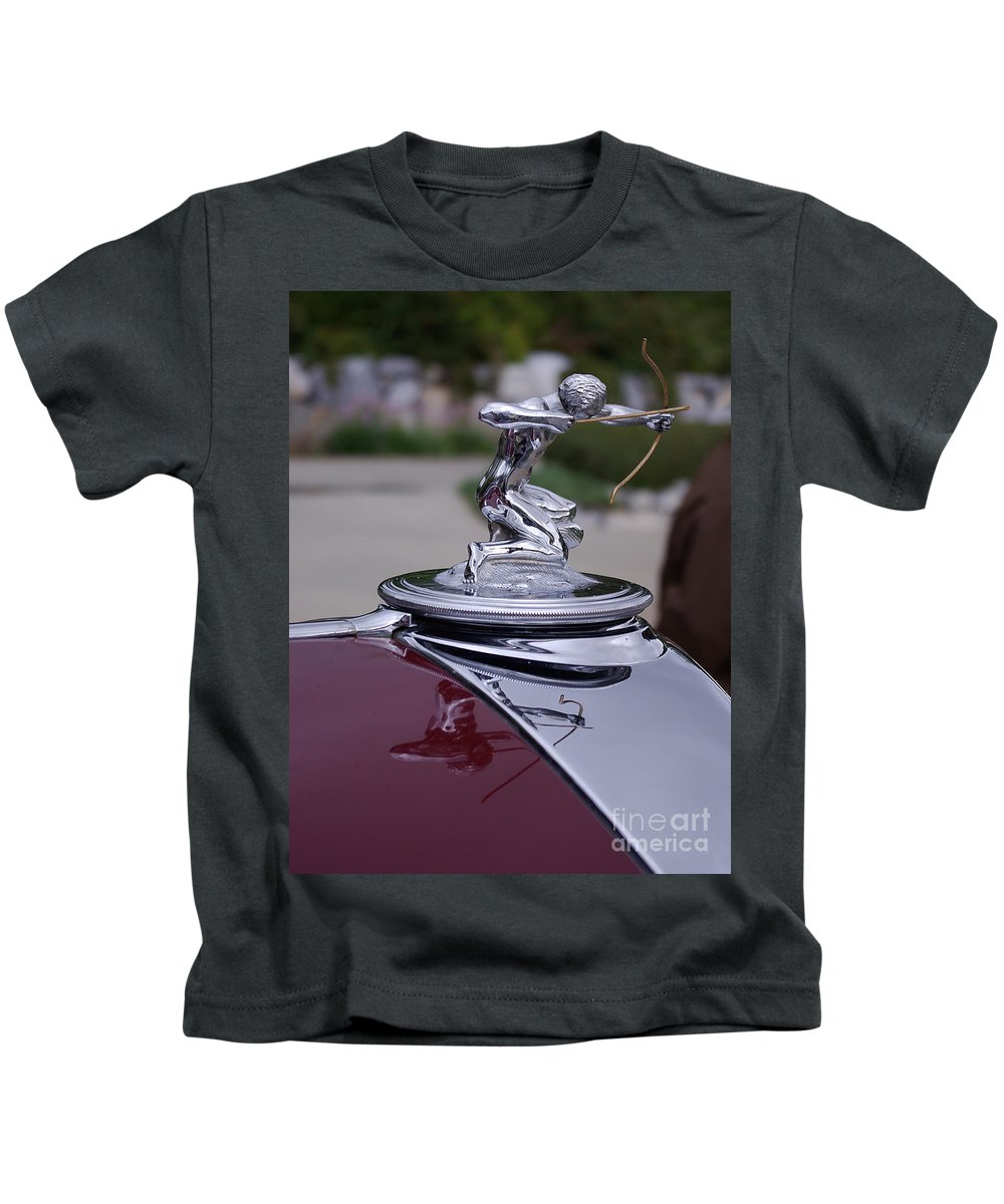 Pierce Arrow Kids T-Shirt featuring the photograph Pierce Arrow Hood Ornament by Jim And Emily Bush
