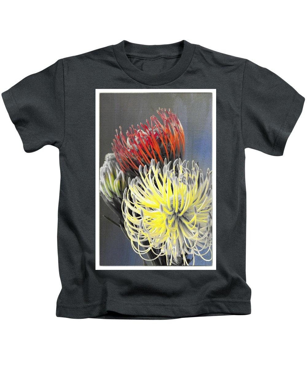 Florals Kids T-Shirt featuring the photograph Pincushion by Linda Dunn