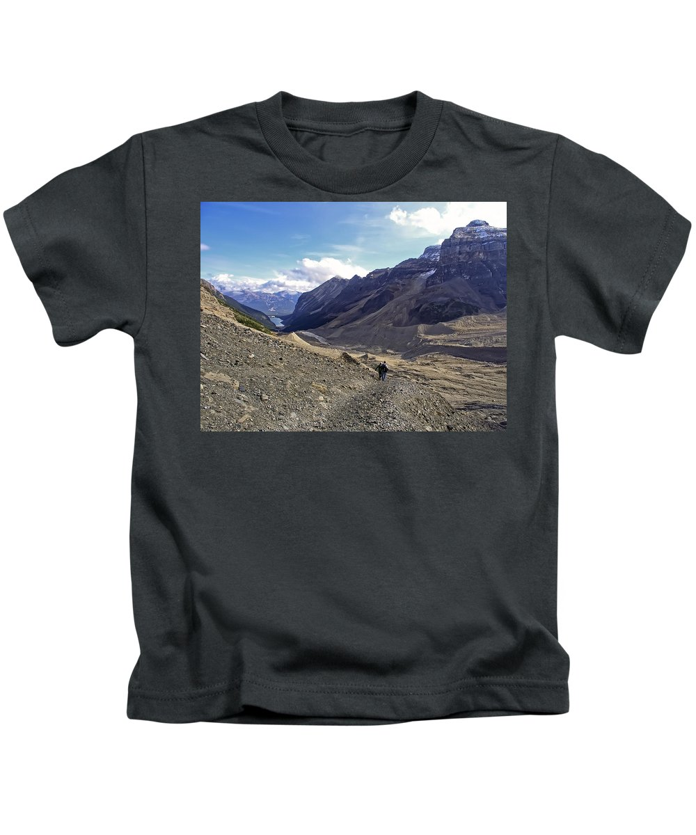 lake Louise Kids T-Shirt featuring the photograph Plain Of Six Glaciers Trail - Lake Louise Canada by Daniel Hagerman