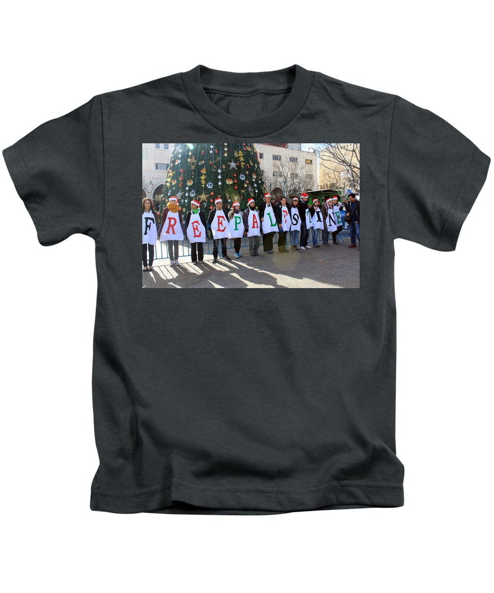 Free Kids T-Shirt featuring the photograph Politics And Religion by Munir Alawi