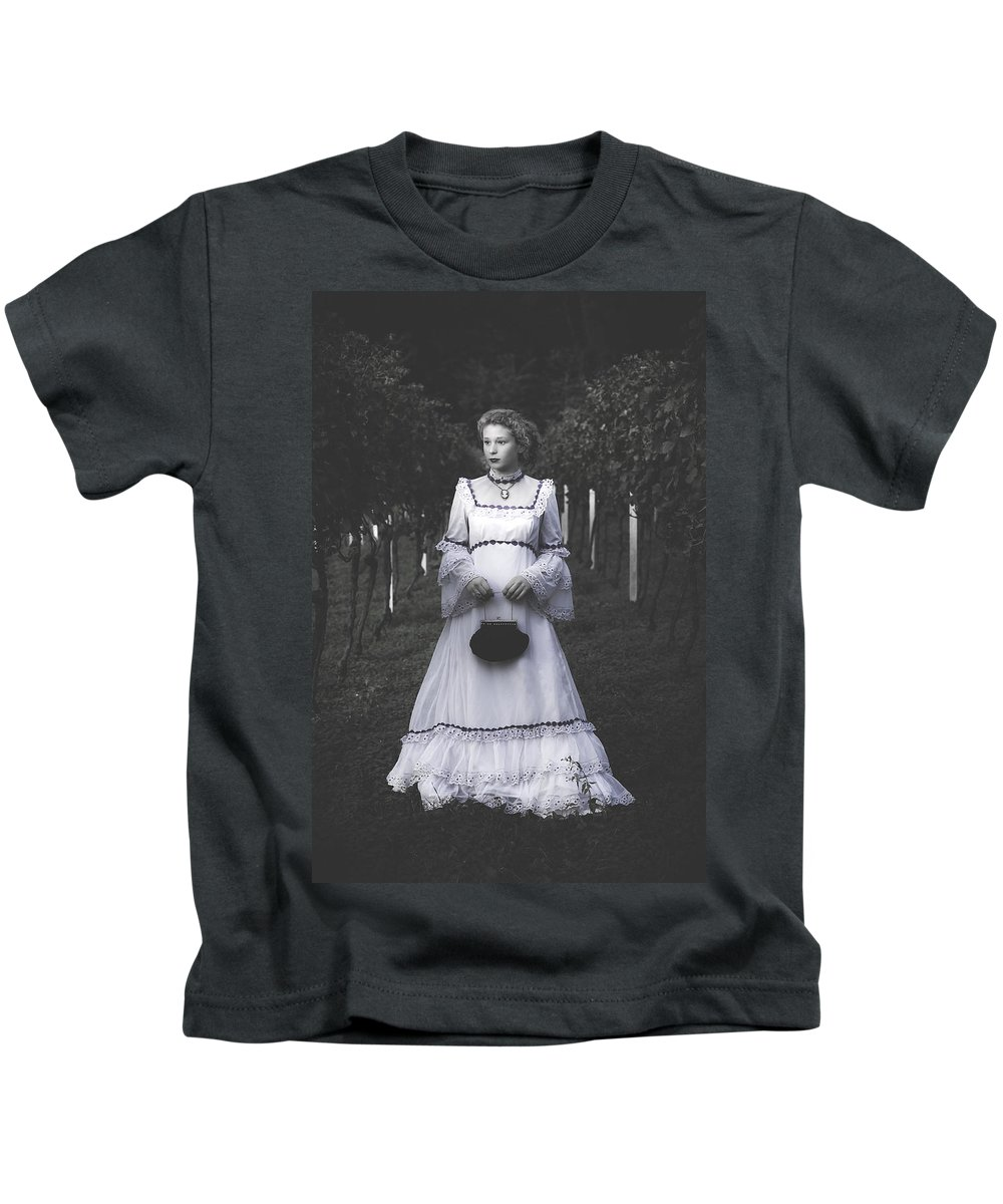 Girl Kids T-Shirt featuring the photograph Porcelain Doll by Joana Kruse