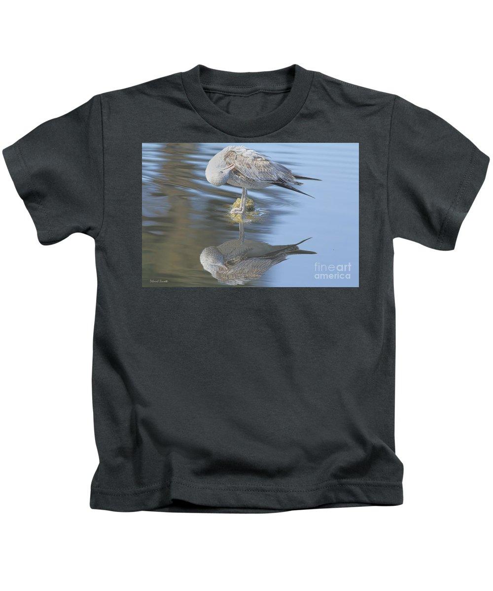 Wildlife Kids T-Shirt featuring the photograph Preening My Feathers by Deborah Benoit