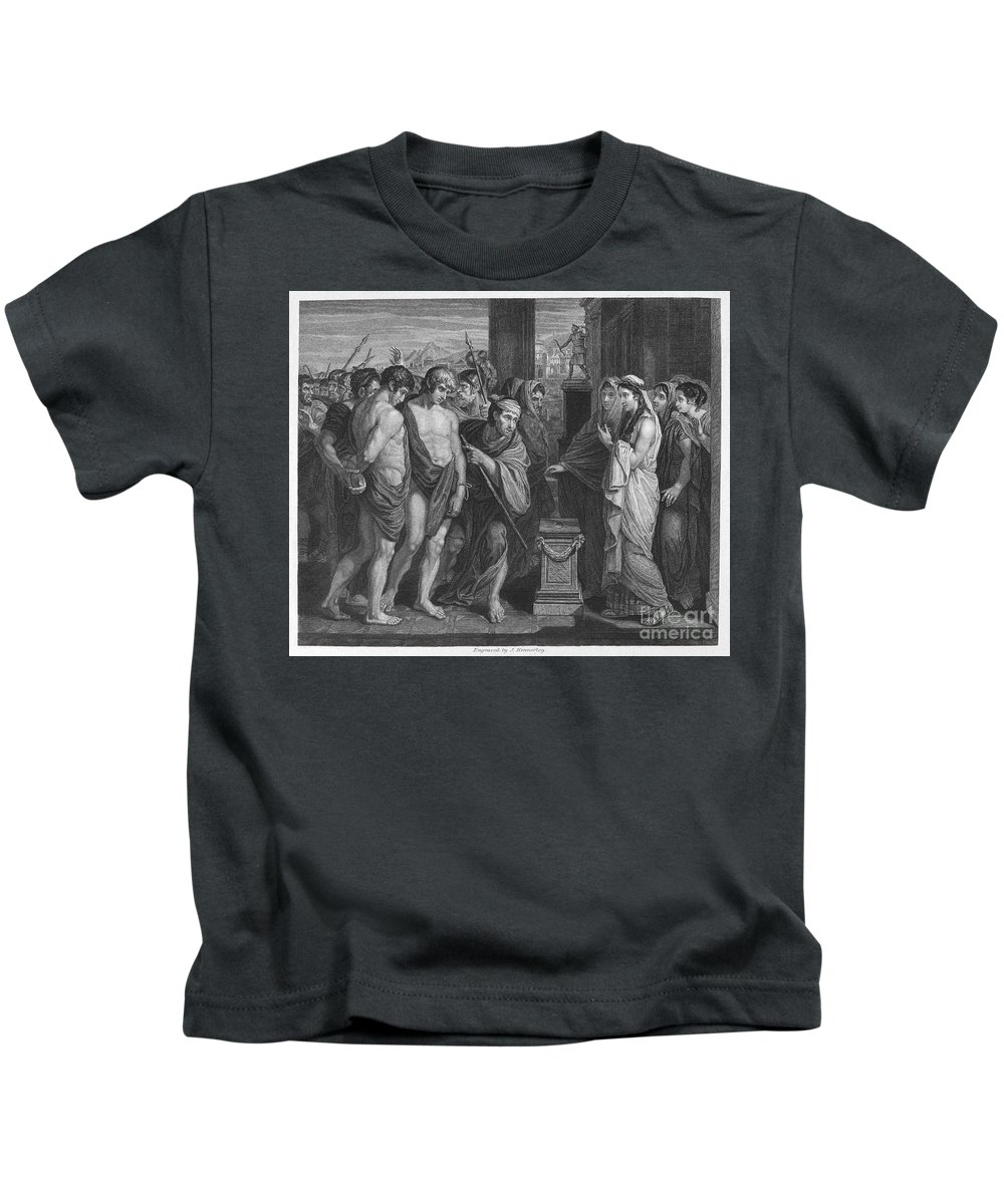 Ancient Kids T-Shirt featuring the photograph Pylades And Orestes by Granger