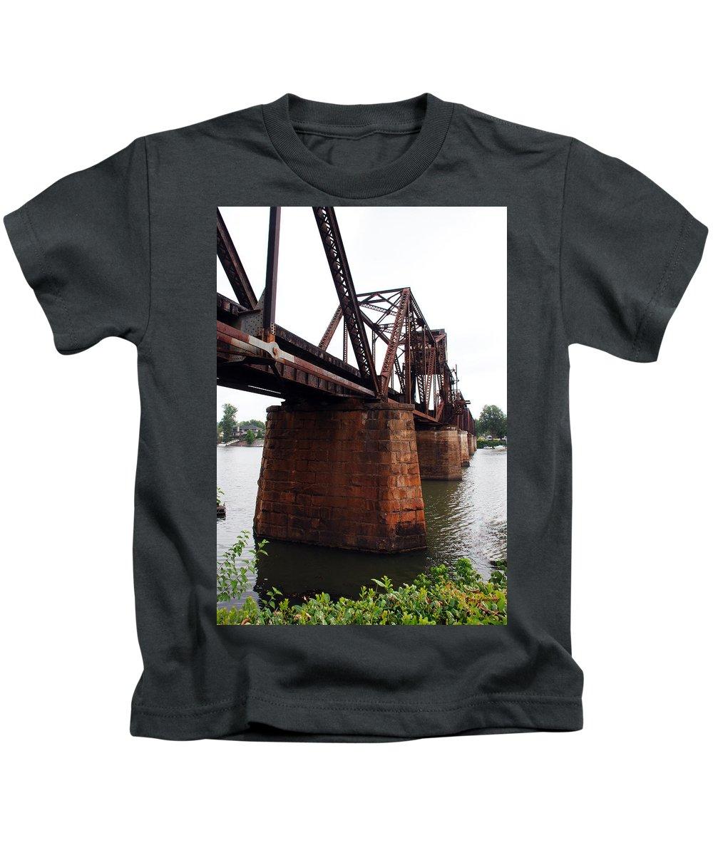 Water Kids T-Shirt featuring the photograph Railroad Bridge 1 by Kay Lovingood