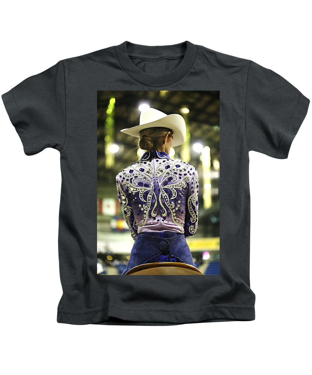 Compete Kids T-Shirt featuring the photograph Ready To Compete 3 by Marilyn Hunt