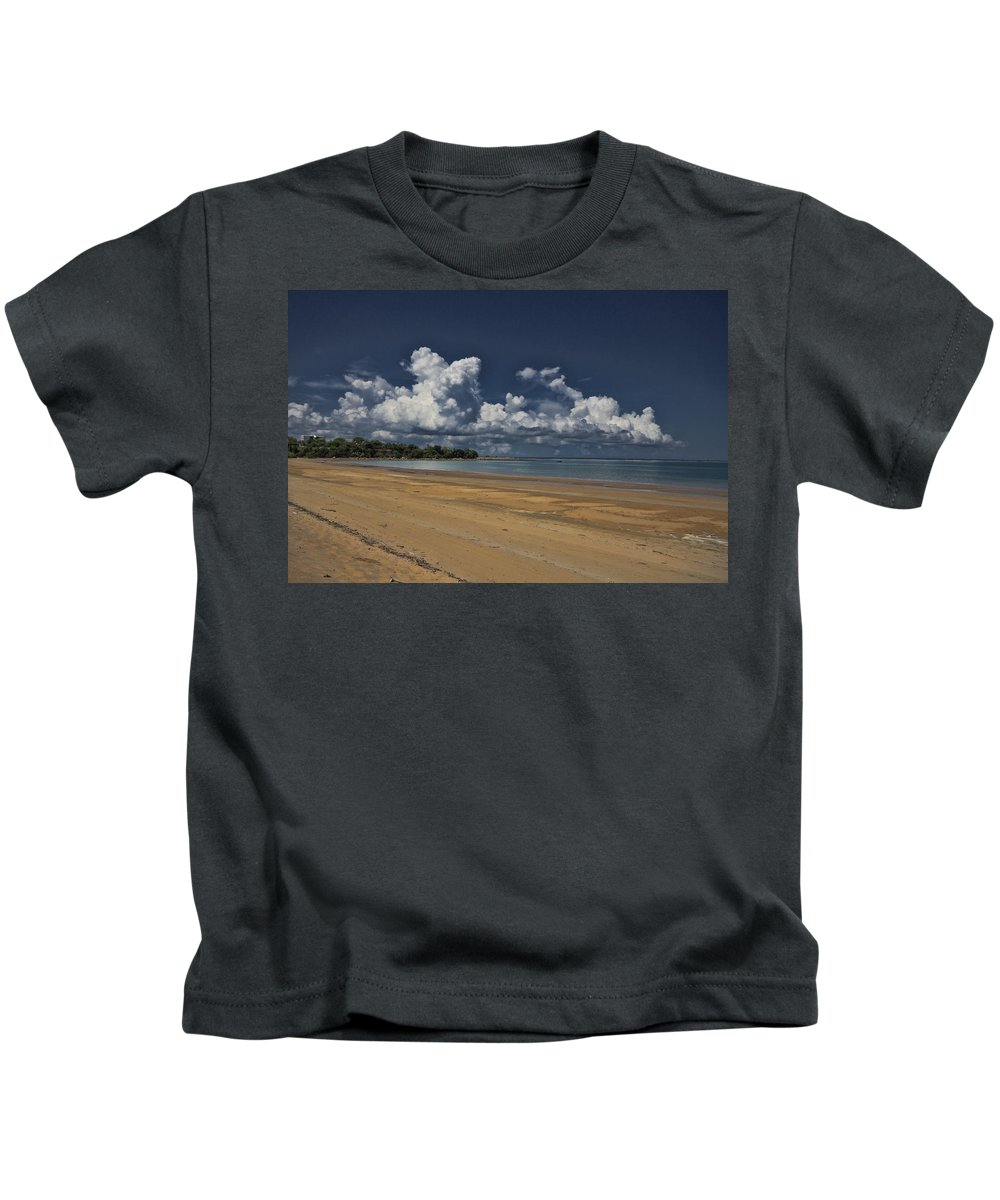 Sea Kids T-Shirt featuring the photograph Receding Waters by Douglas Barnard