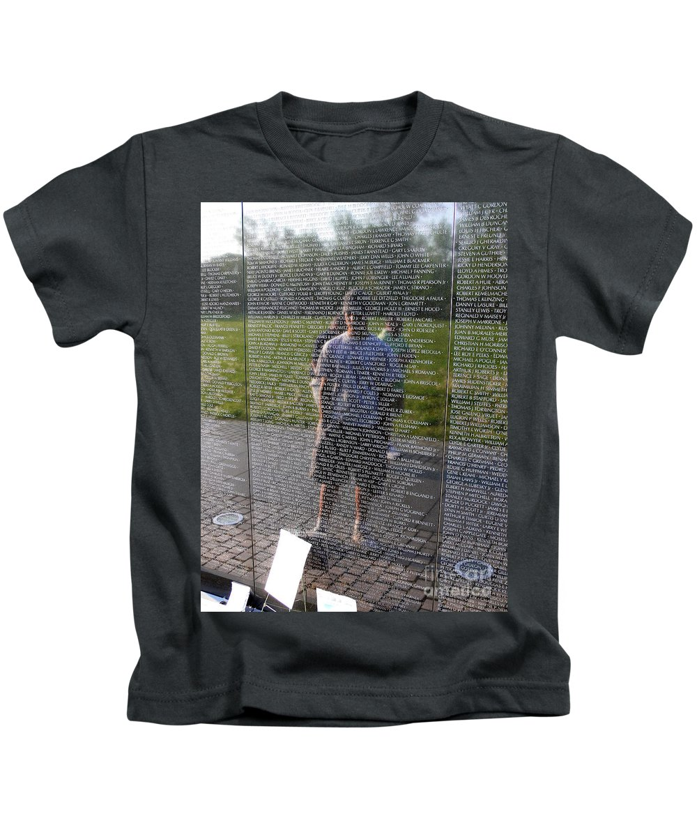 Washington Kids T-Shirt featuring the photograph Reflection And Remembrance by Kevin Fortier
