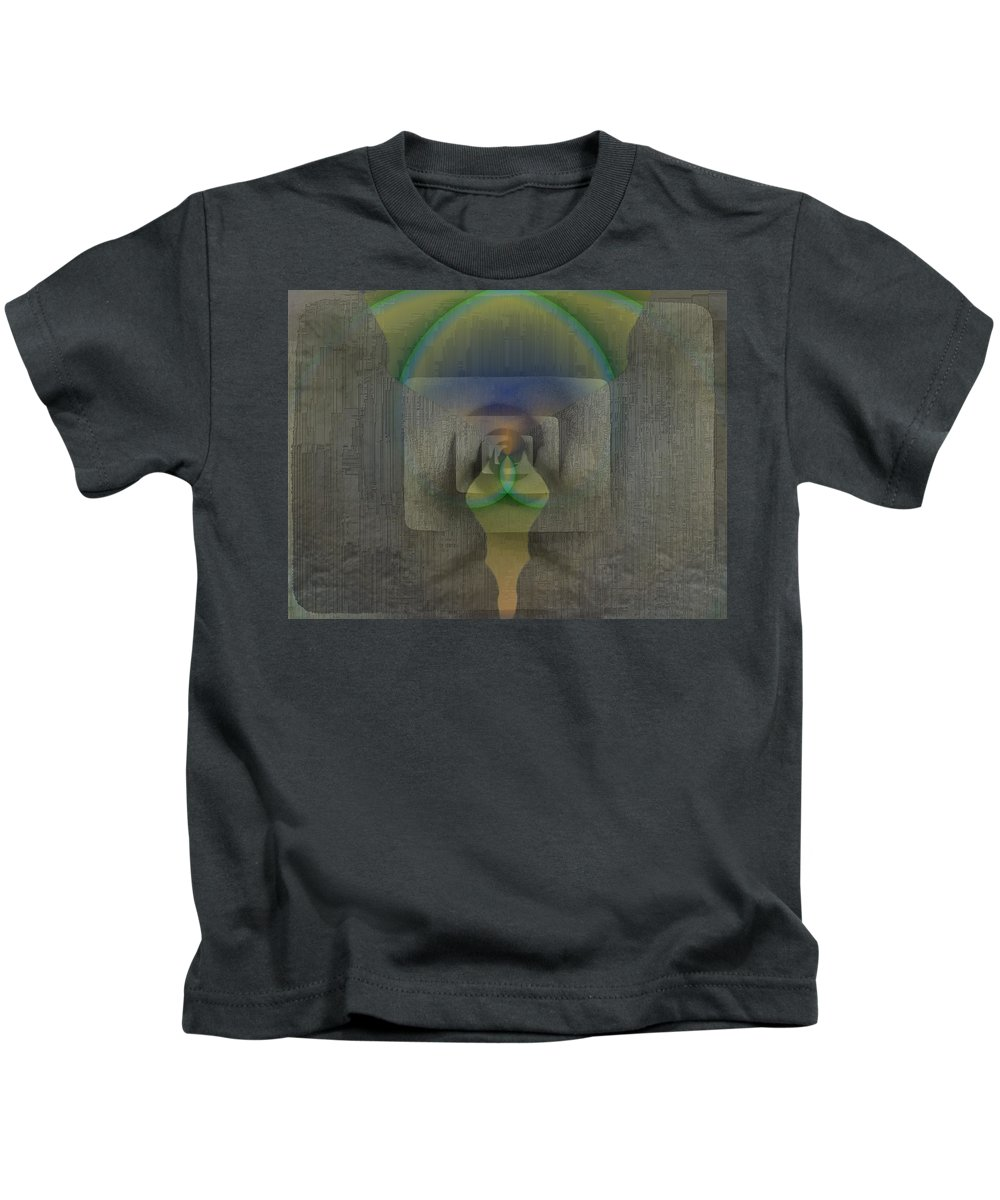 Reflection Kids T-Shirt featuring the digital art Reflections Of The Soul by Tim Allen