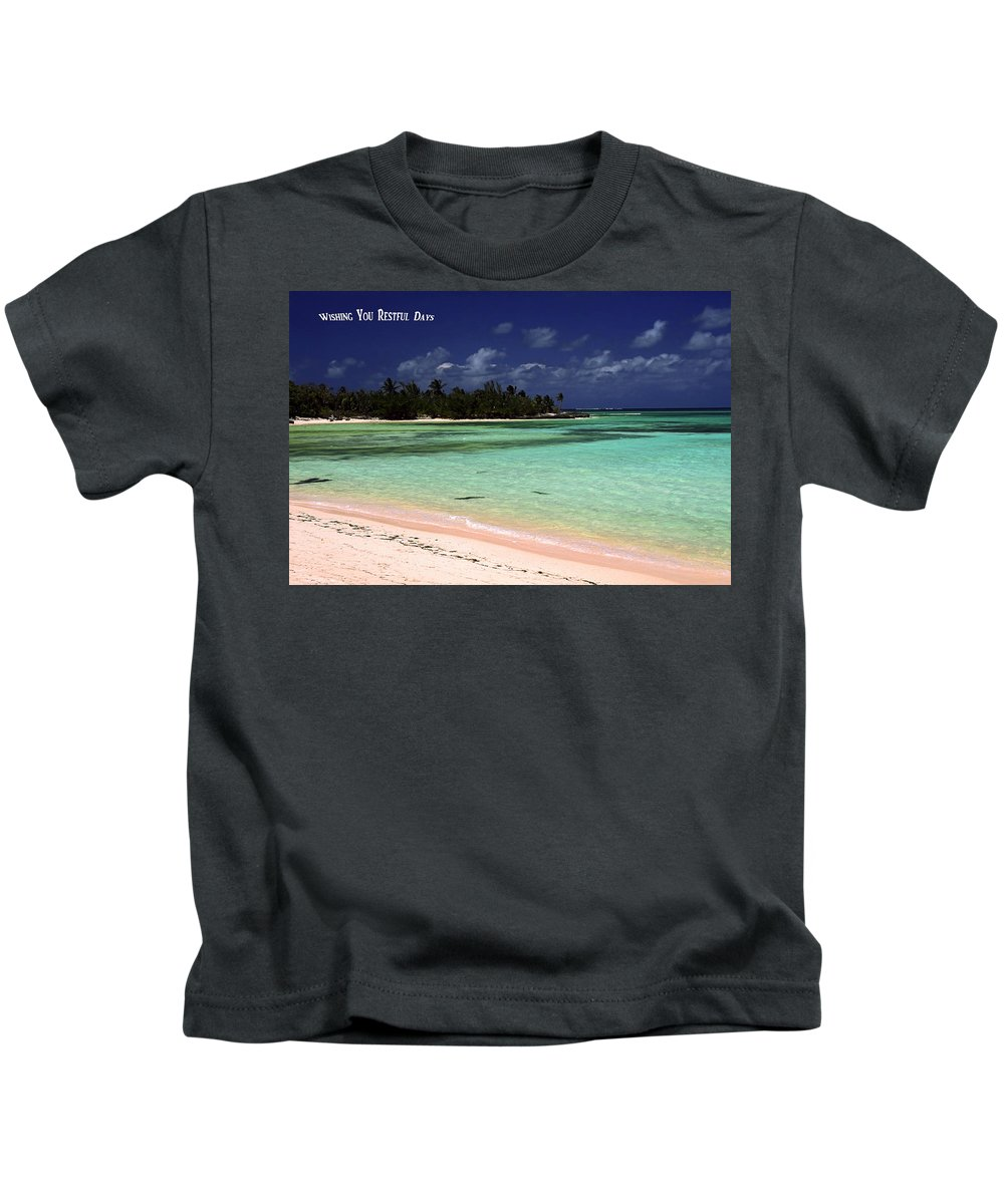 Aqua Water Kids T-Shirt featuring the photograph Restful Days by Sally Weigand