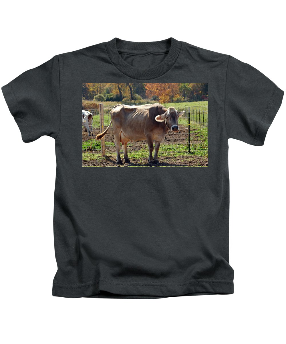 Animals Kids T-Shirt featuring the photograph Ribs On A Skinny Cow by LeeAnn McLaneGoetz McLaneGoetzStudioLLCcom
