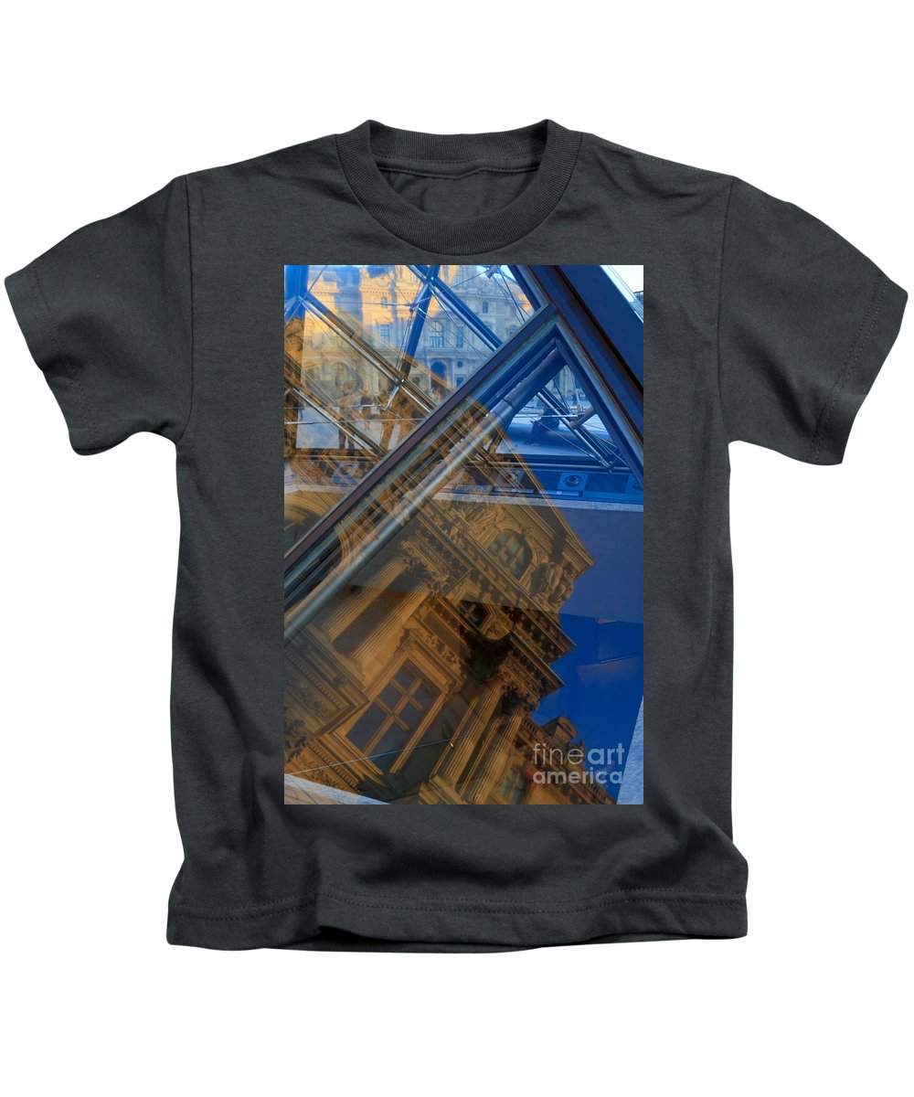 Richelieu Wing Kids T-Shirt featuring the photograph Richelieu Wing Of The Louvre by Louise Heusinkveld
