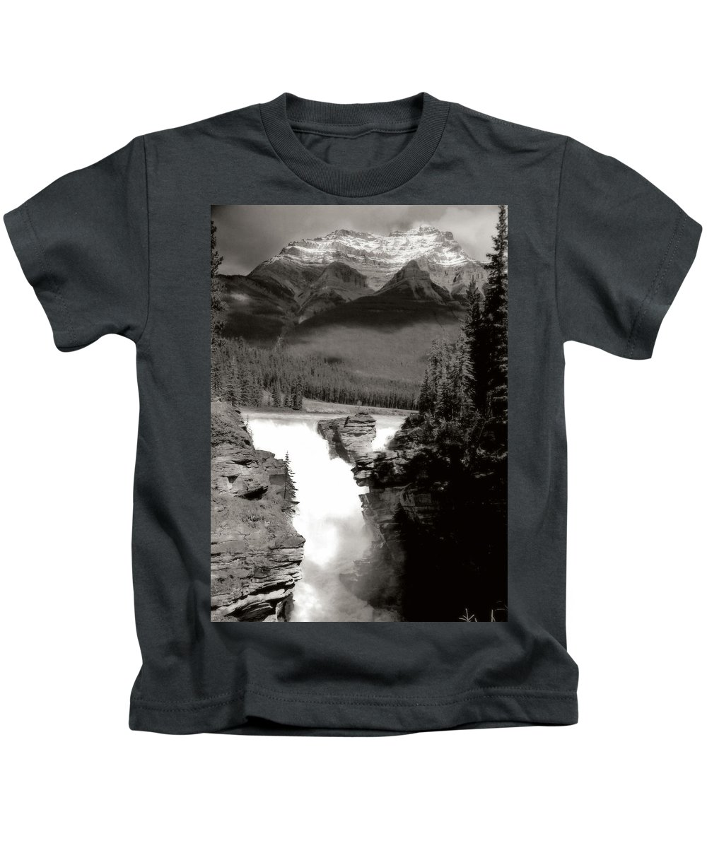 Landscape Kids T-Shirt featuring the photograph River Fall Part 1 by Marcin and Dawid Witukiewicz